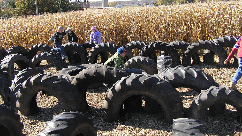 Tractor Tire Playground